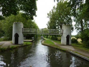 Ornamental foot bridge near Drayton Manor Park