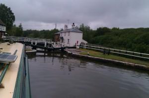 Fenny Stratford lock, with swing bridge over